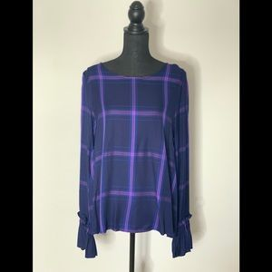 NWT Sanctuary Plaid Blouse Sz L